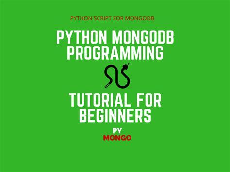 tutorial python mongodb python mongodb database programming tutorial
