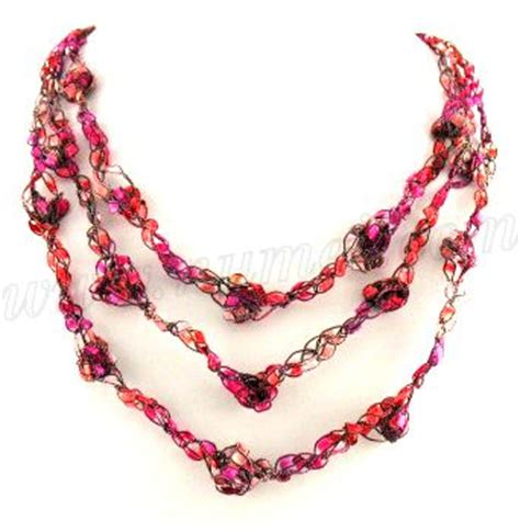 free pattern ladder yarn necklace free crochet pattern ladder ribbon necklace pattern 3