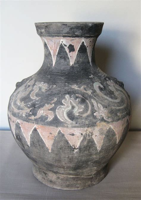 Han Dynasty Vase by Han Dynasty Painted Pottery Vase From