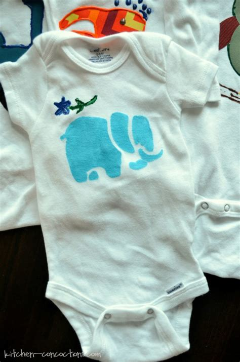 Plain White Onesies To Decorate by Baby Shower Idea Onesie Decorating Kitchen Concoctions