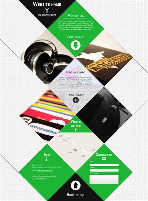design inspiration one page 40 best images about portfolio inspiration on pinterest