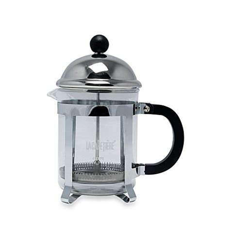 french press bed bath and beyond la cafetiere optima 4 cup classic chrome french press