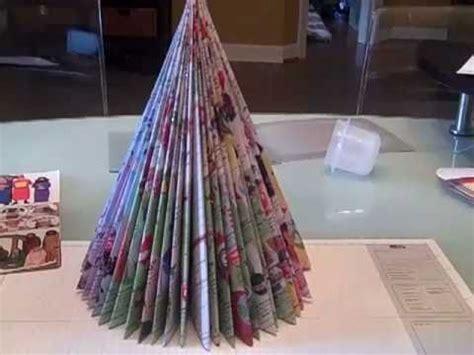 recycled magazine tree as seen on martha stewart youtube