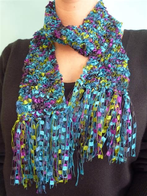 pattern ladder yarn scarf 30 best images about ladder yarn thread jewelry on