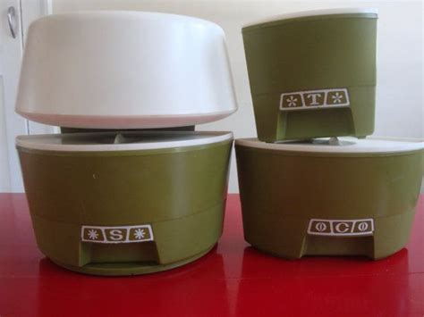 Retro Kitchen Canisters Set by Retro Rubbermaid Lazy Susan Canister Set