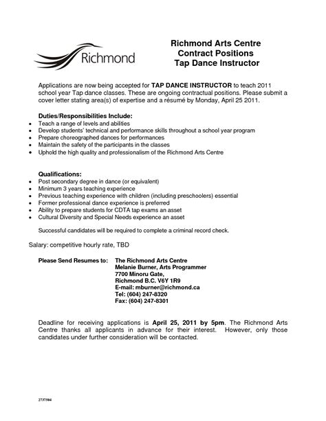 cover letter and resume sle karate instructor cover letter government accountant cover