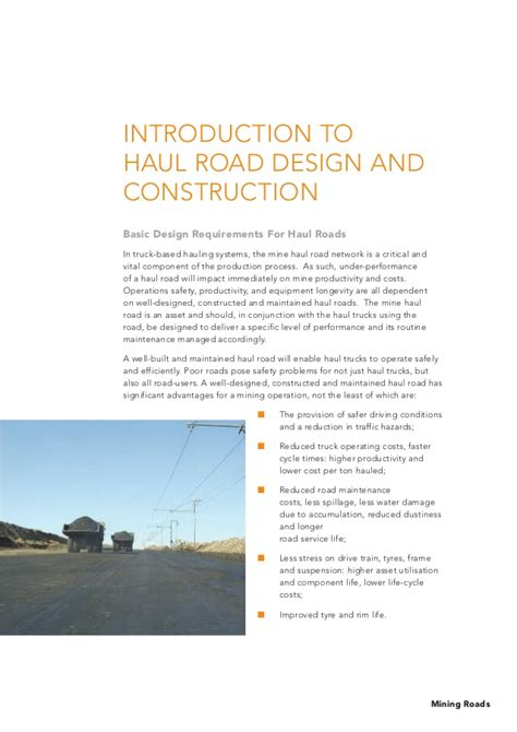 design criteria for road construction empire resources limited asx erl ann article on penny