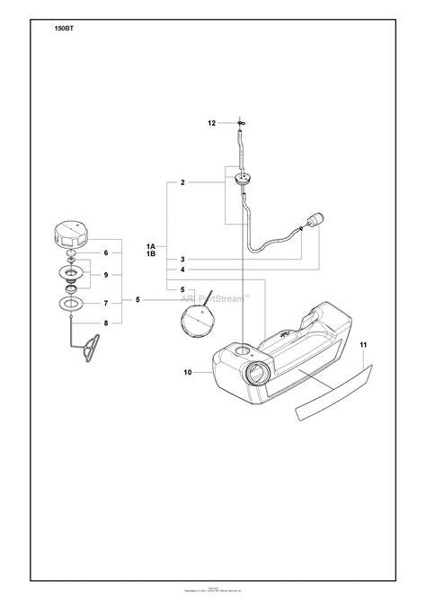 husqvarna  bt lowes   parts diagram  fuel tank