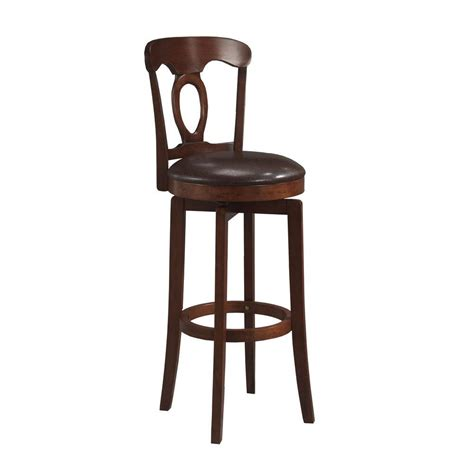 cushioned bar stool hillsdale furniture corsica 31 in brown swivel cushioned