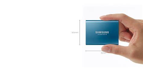 Hardisk Eksternal Ssd hardisk eksternal samsung ini lebih kecil dari kartu nama