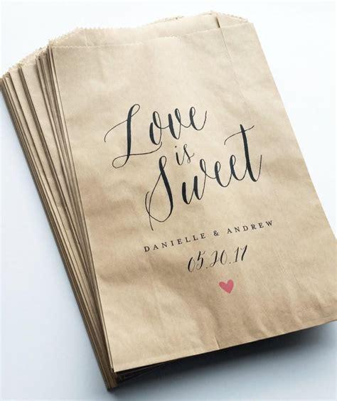 Sweet Wedding Paper Bag is sweet wedding buffet brown kraft favor bags