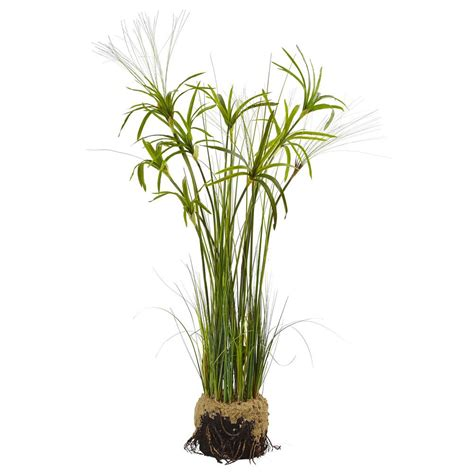 Home Depot Interior Doors With Glass Nearly Natural Papyrus Plant With Faux Soil 4566 The