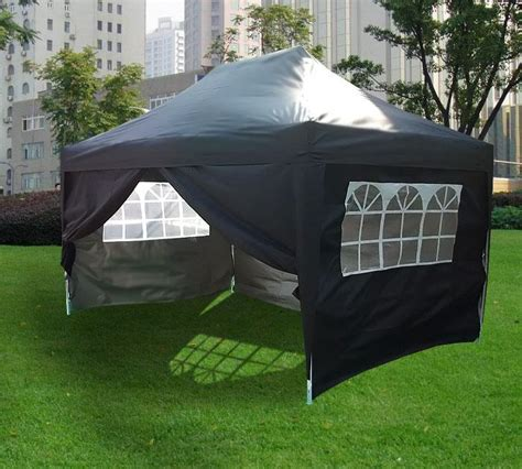 Pop Up Gazebo 3m X 4 5m Pyramid Roof Pop Up Gazebo Black