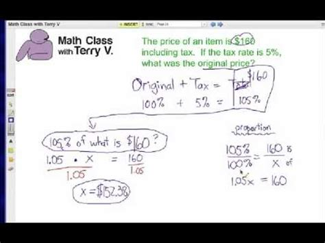 how to find original price tax 1