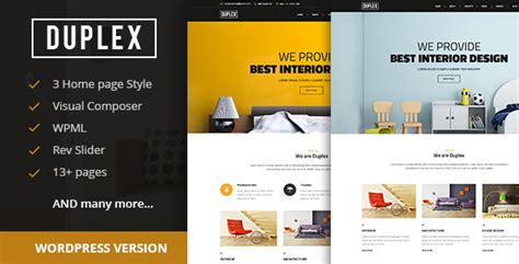 design banner publisher duplex interior and architecture design wordpress theme