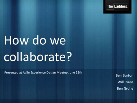 how do we collaborate adaptive team dynamics at theladders