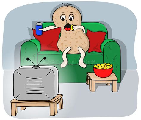 couch potato tv couch potato stock photography image 32934362