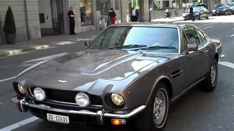Brown 1970's Aston Martin V8 Vantage Drive By in Zurich, Switzerland   YouTube