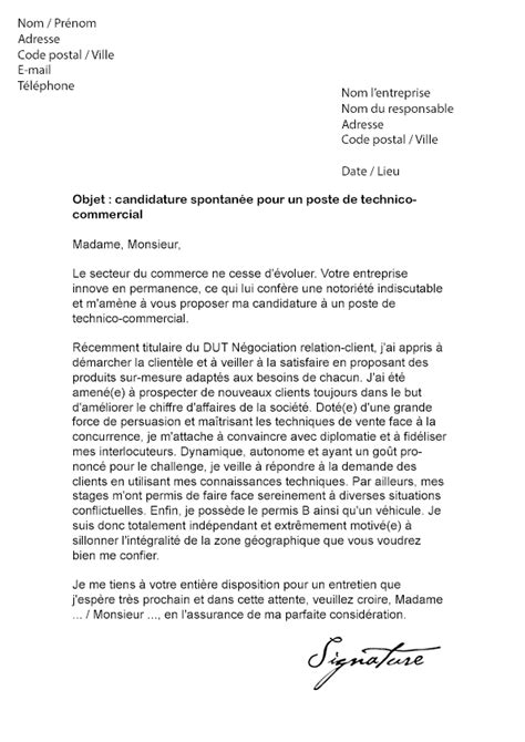 Lettre De Motivation école Technico Commercial Lettre De Motivation Technico Commercial Mod 232 Le De Lettre