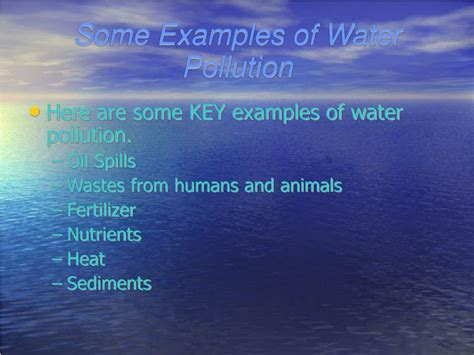 ppt water pollution powerpoint presentation id 305355