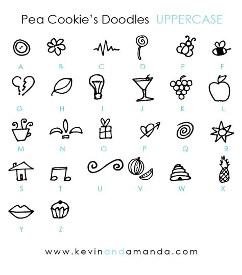 doodle name kevin pea cookie s doodles