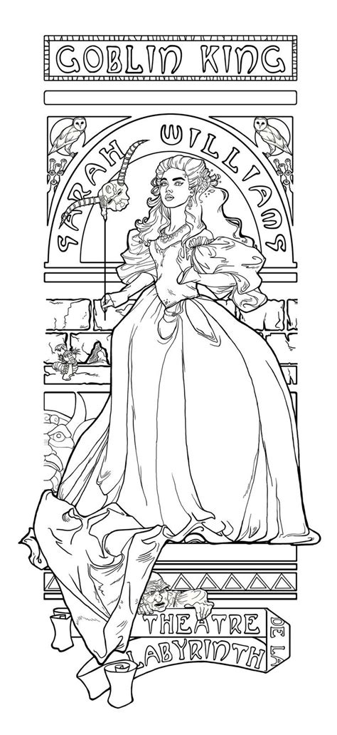 theatre de la labyrinth by khallion coloring pages