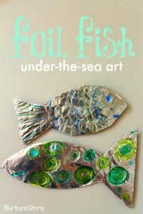 foil fish craft ocean theme for preschool nurturestore