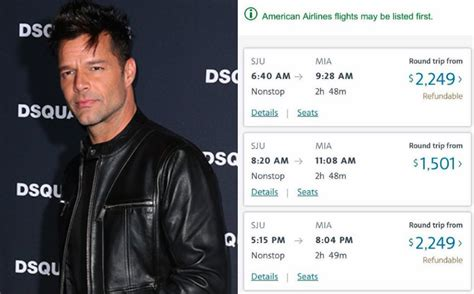 ricky martin shows airfare prices skyrocketed  puerto