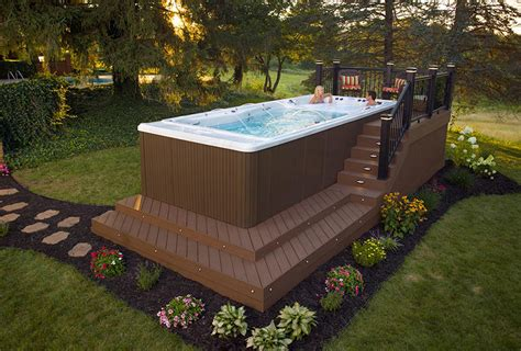 swim spa backyard designs backyard ideas for your michael phelps swim spa