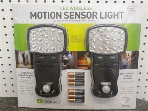 capstone wireless motion sensor light 2 pk capstone led wireless motion sensor light 2 pack ebay