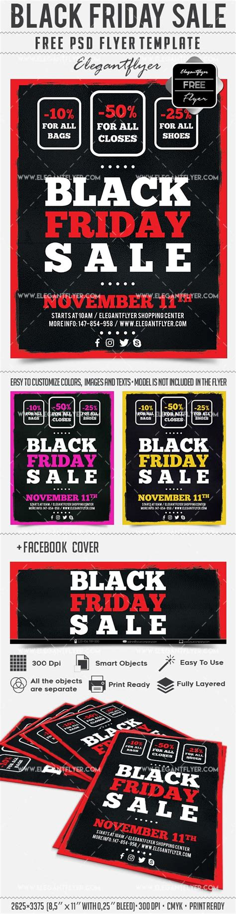 Free Black Friday Sale Facebook Cover Flyer Template Flyershitter Com Mailchimp Black Friday Template