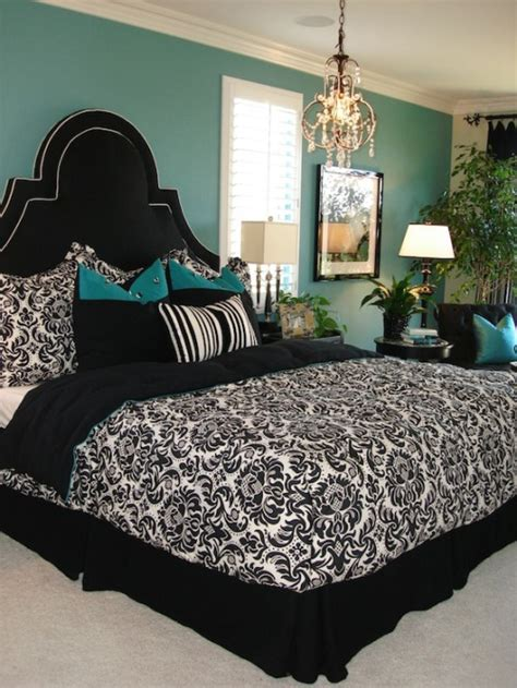 teal black white bedroom ideas guest blog teal in the bedroom chicks on the go