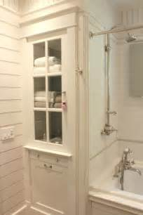 built in bathroom cabinet with glass door mod home info