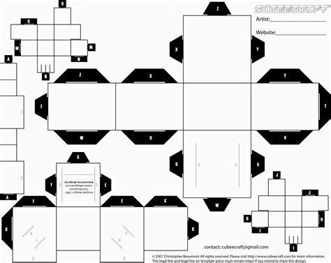 Cubeecraft Template By 1madhatter On Deviantart Beekeeping Journal Template