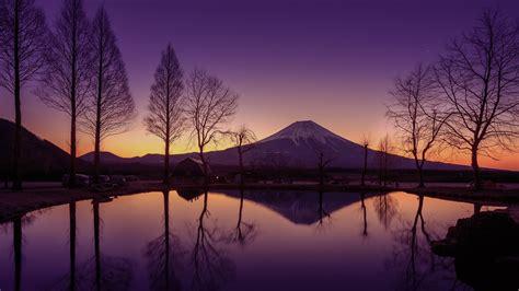 mount fuji   beautiful morning sky japan