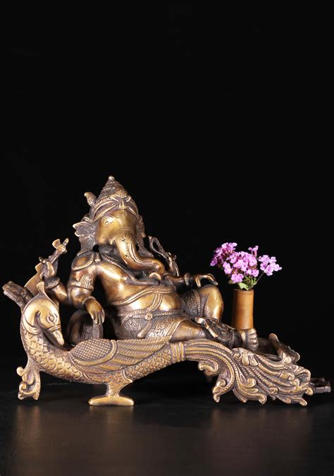 reclining sculpture brass reclining ganesh sculpture 7 quot 89bs102z hindu