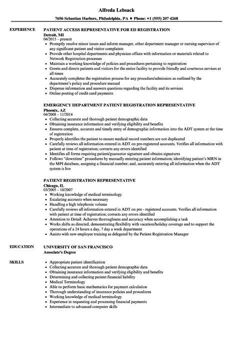 patient registration clerk resume financial representative sle resume bank service manager cover letter