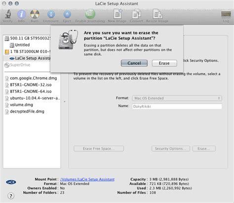 format lacie exfat you can t open the application lacie setup assistant app