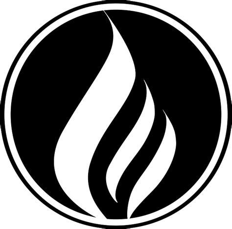 Flames Black Hitam free vector graphic black circle logo
