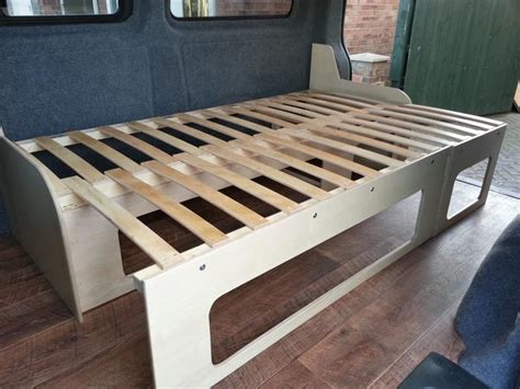 Rv Bed Frame Wood Cervan Bed With Pullout Section Carpentry Joinery In Mexborough South