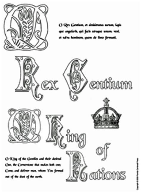 O Antiphons Coloring Pages by O Antiphons Coloring Pages Coloring Pages