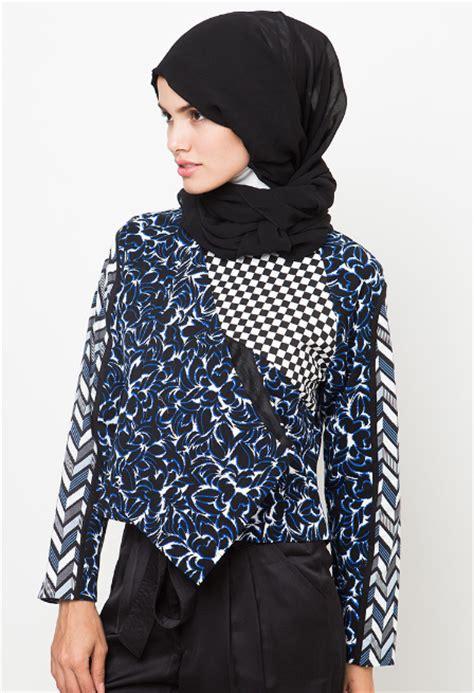 tren busana muslim terkini aneka contoh model baju batik muslim design gambar terbaru