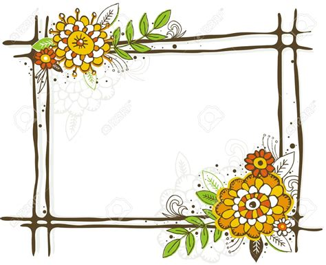 Photo Collection Border Frame Flower Clipart