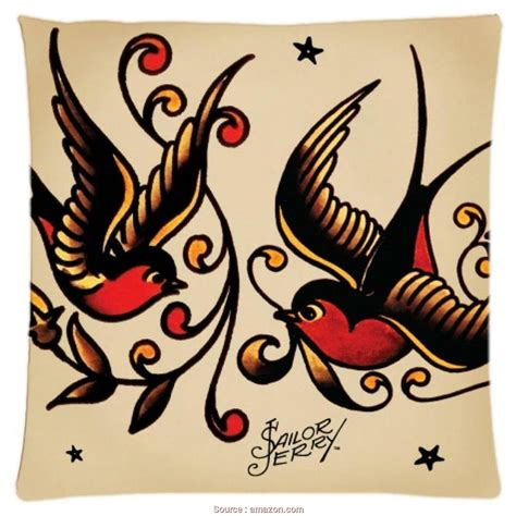 sailor jerry home decor stupefacente 4 cuscini il divano jake vintage