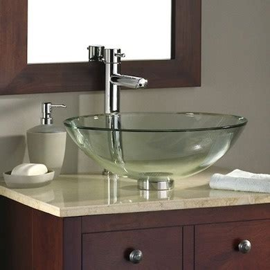 glass bowl sink flowers pinterest