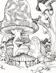Free Trippy Mushroom Coloring Pages Trippy Coloring Pages
