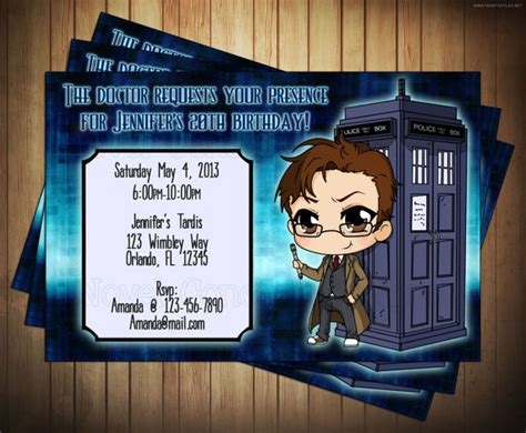 Free Printable Doctor Who Birthday Party Invitations Template Drevio Invitations Design Tardis Invitation Template
