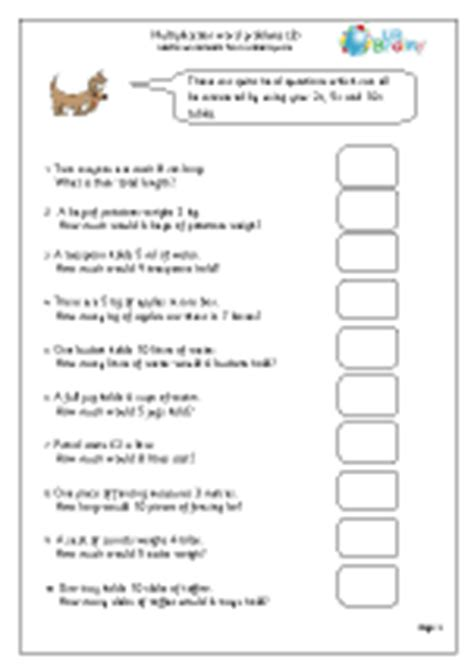 Age Word Problems Worksheet by Multiplication Word Problems 3 Multiplication Maths