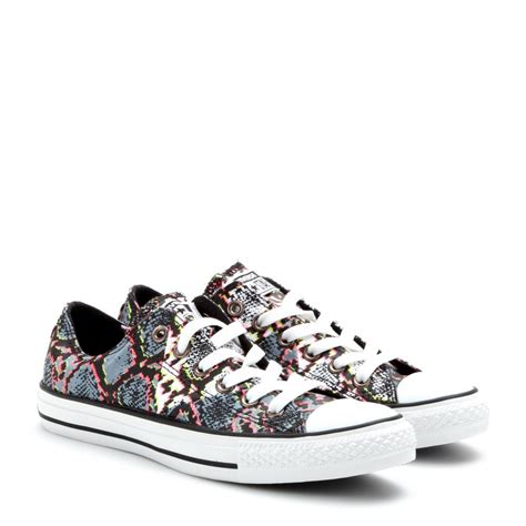 converse sneakers lyst converse chuck all low printed sneakers