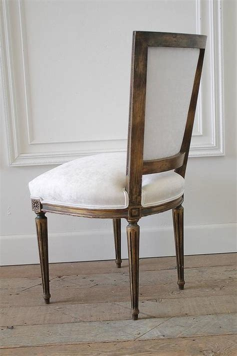 Antique Louis Xvi French Desk Chair In White Velvet For Antique White Desk Chair